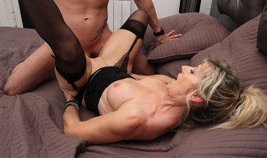 Sexy French MILF Marina Beaulieu Sucks a Big Cock and Gets Fucked Hard