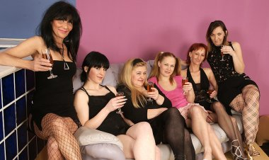 Six Old and Young Lesbians Going to Town and Party Hard - Mature.nl