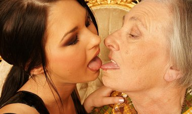 Granny Takes Her Young Lesbian Maid for a Ride - Mature.nl