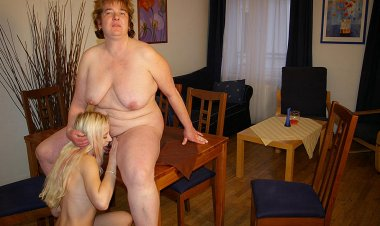 Big Mama Having Fun with One Hot Young Babe - Mature.nl