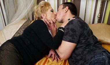 Horny Grandma Sucks Her Toyboy's Cock and Gets Fucked Hard
