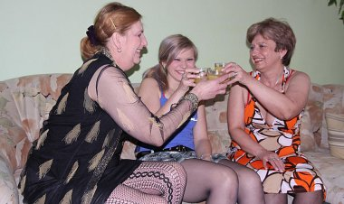 Two Mature Lezzies Take on a Hot Cherry Babe - Mature.nl