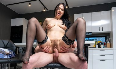 Hairy cougar fucked by a toyboy