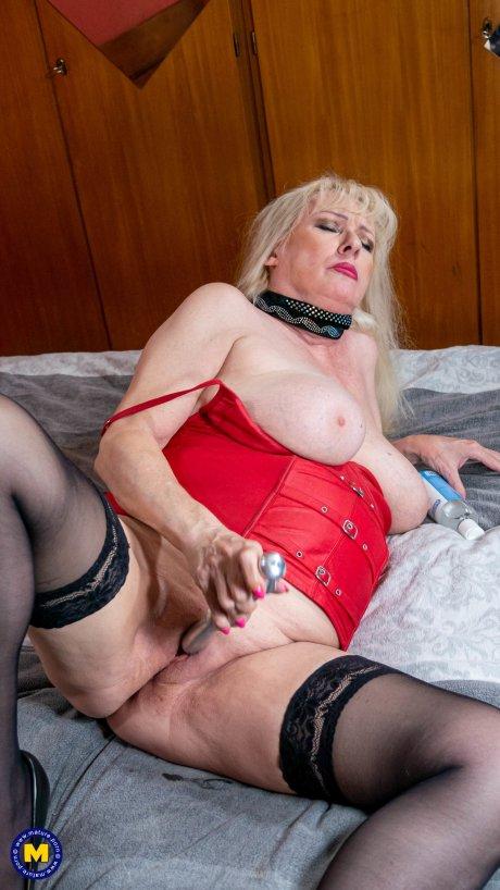 Calling for a big breasted German mature slut