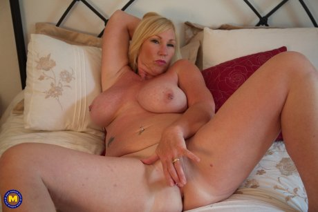 Naughty big breasted Melody Charm pleasing herself at her hotelroom
