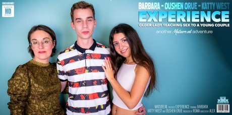 This young couple need the sexual experience from older lady Barbara