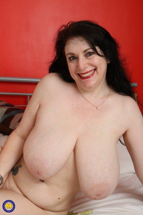 Huge breasted British housewife teasing