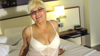 Blonde Mature Slut Playing with Her Big Dildo – Mature.nl