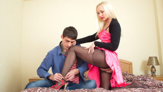 Naughty MILF Playing with Her Toy Boy – Mature.nl