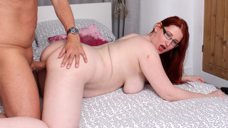 Curvy Red Haired Cougar Fucking and Sucking Her Lover – Mature.nl