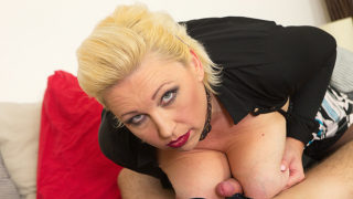 Busty Blonde MILF Fucks and Sucks a Young Guy – Mature.nl